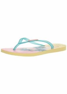 Havaianas Women's Slim Paisage Flip Flop Sandal  9/10 M US