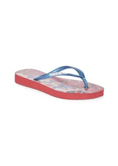Havaianas Slim Princess Snow White Flip Flops