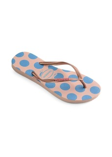 Havaianas Slim Retro Rubber Thong Sandals