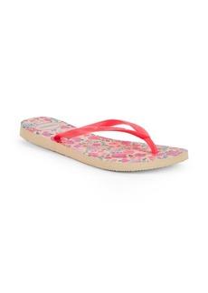 Havaianas Slim Romance Rubber Flip Flops