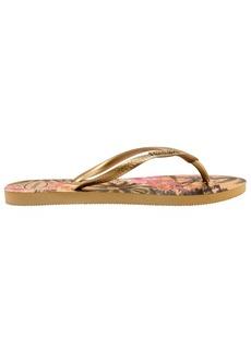 Havaianas Slim Tropical Metallic Rubber Flip Flops