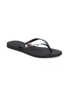 Havaianas Slim Tropical Straps Flip Flops