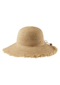 Helen Kaminski Fringed Wide Brim Hat
