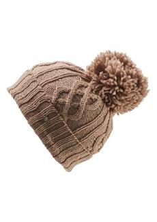 Helen Kaminski Knit Wool Pom Beanie
