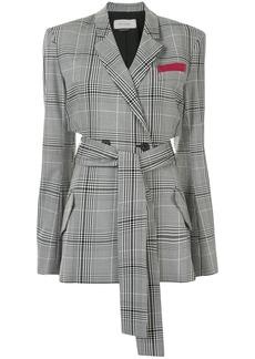 Hellessy cut-out plaid check blazer