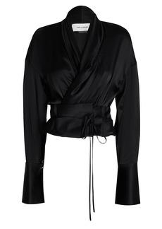 Hellessy Harlow Draped Silk Top