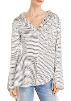 Hellessy Bessette Dotted Stretch Silk Shirt - 100% Exclusive
