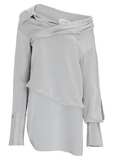 Hellessy Stella Asymmetrical Silk Blouse