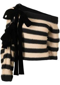 Hellessy striped off-shoulder jumper