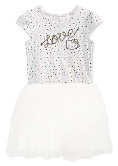 Hello Kitty-Print Popover Dress, Little Girls