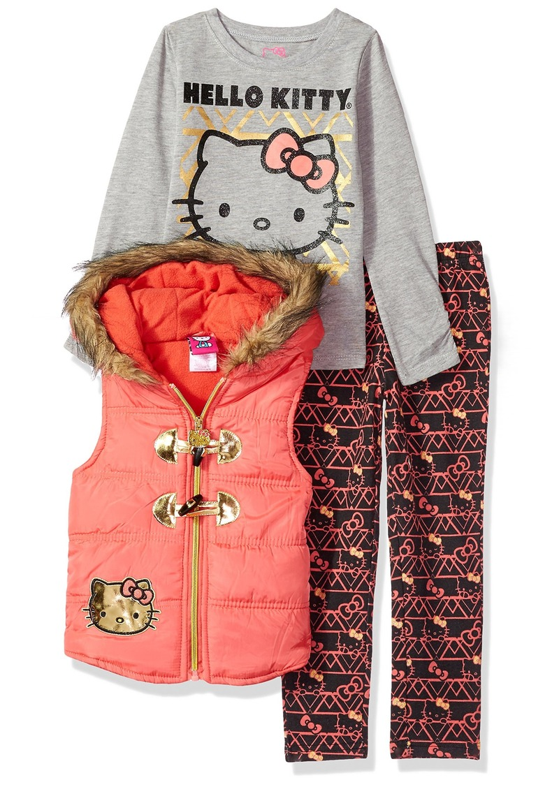 Hello Kitty Baby Girls' 3 Piece Tee Vest and Legging Set  18M