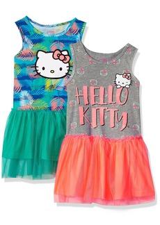 Hello Kitty Big Girls' 2 Pack Embellished Tutu Dresses