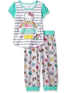 Hello Kitty Big Girls' All About Fun 2 Piece Capri Pajama Set  XSmall