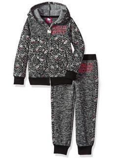 Hello Kitty Big Girls' All Over Printed Sweater Fleece Active Set