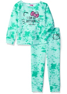 Hello Kitty Big Girls' Jogger Pant Set With Crew Neck Top