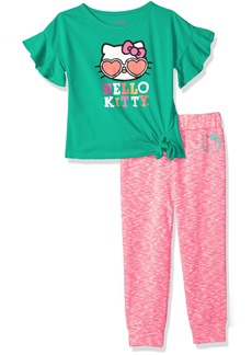 Hello Kitty Little Girls' Jogger Pant Set With Fashion Top