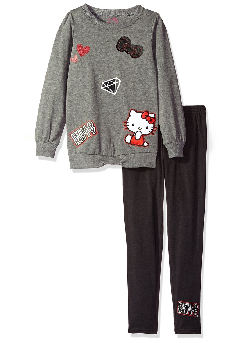 2f248a7260769 Big Girls' Legging Set with 3D Appliques Embroidery and Screen Print Details