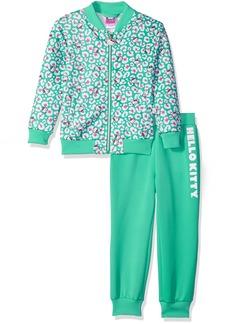 Hello Kitty Big Girls' Scuba Knit Bomber Jacket Pant Set
