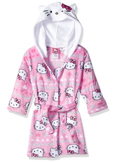 Hello Kitty Girls' Big Snowflake Hooded Robe