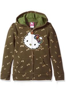 Hello Kitty Big Girls' Zip up Hoodie with Sequin Applique