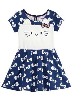 Hello Kitty Bows-Print Kitty Face Dress, Baby Girls