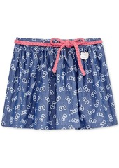 Hello Kitty Chambray Bow-Print Skirt, Toddler & Little Girls (2T-6X)