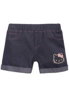 Hello Kitty Little Girls Denim-Look Knit Shorts