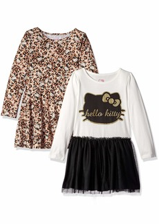 Hello Kitty Girls' Little 2 Pack Embellished Tutu Dresses