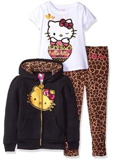 Hello Kitty Little Girls' 3 Piece Hooded Legging Set