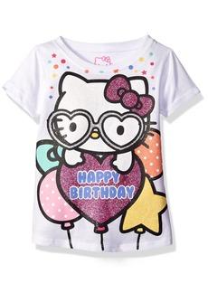 Hello Kitty Girls' Little Girls' Happy Birthday T-Shirt