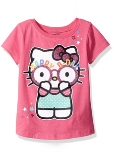 Hello Kitty Girls' Little Girls' Happy Birthday T-Shirt
