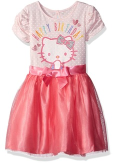 Hello Kitty Girls' Little Happy Birthday Tutu Dress