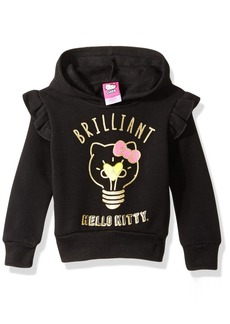 Hello Kitty Girls' Little Hoodie with Screen Print Sugar Glitter Sequins Black 6X