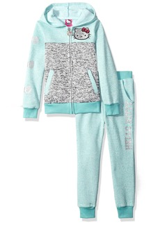 Hello Kitty Girls' Sweater Fleece Active Set with Sequins and Glitter Print