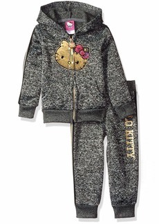 Hello Kitty Girls' Toddler 2 Piece Hooded Fleece Active Set