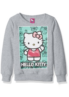 Hello Kitty Girls' Toddler Sweatshirt with Sequins and Lace Details