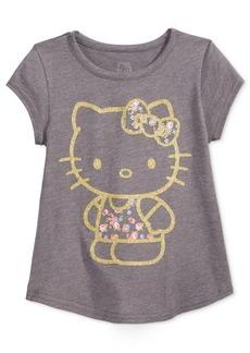 Hello Kitty Glitter Graphic-Print T-Shirt, Little Girls
