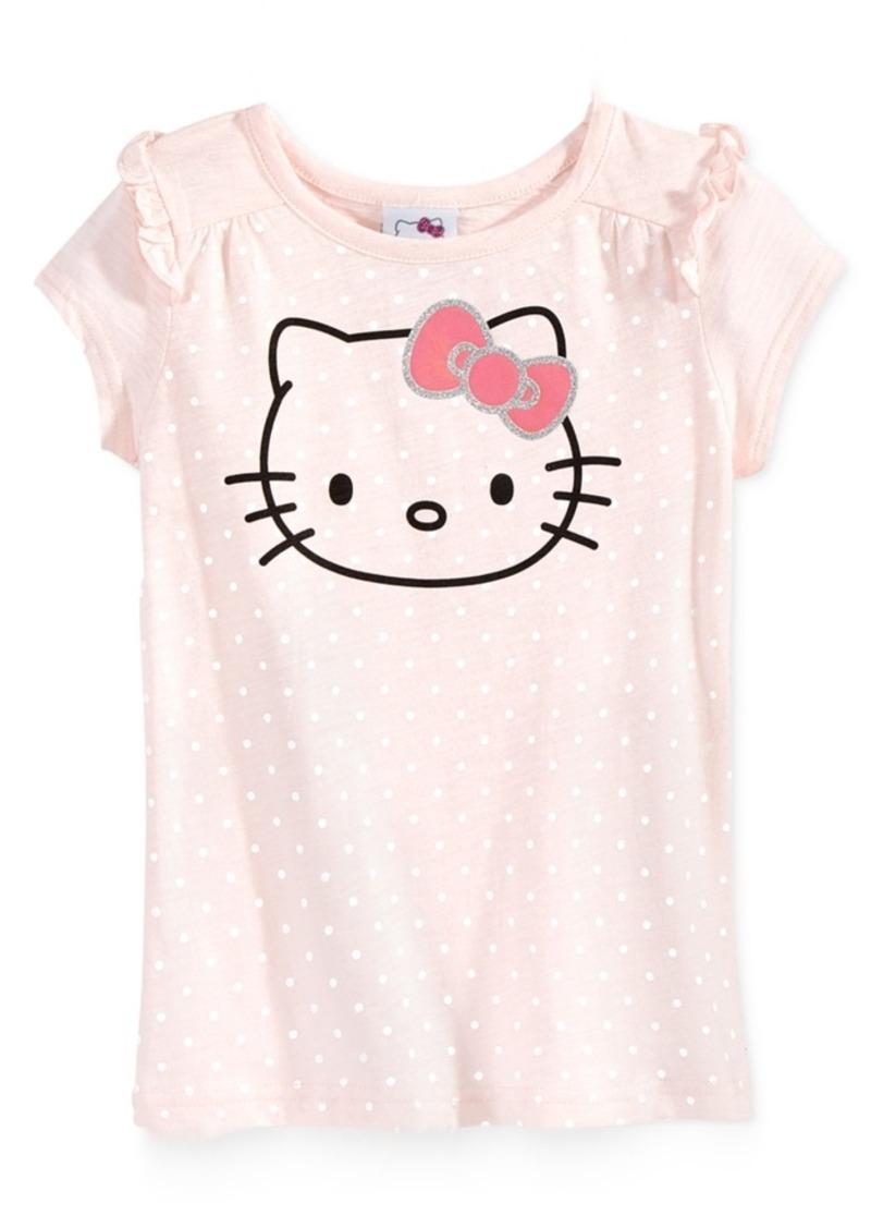 Hello Kitty Graphic Polka-Dot T-Shirt, Toddler & Little Girls (2T-6X)