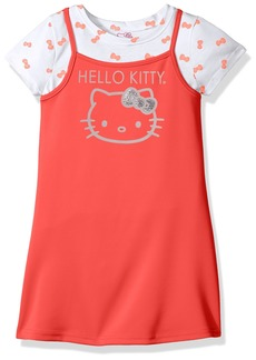 Hello Kitty Little Girls' 2 Piece Dress Set with Printed Tee