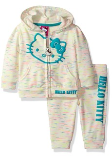 Hello Kitty Little Girls' 2 Piece Hooded Fleece Active Set