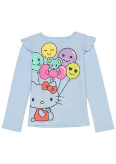 Hello Kitty Little Girls Balloons Long Sleeve Tee