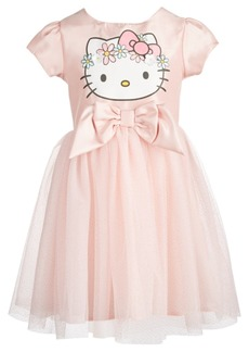 Hello Kitty Toddler Girls Flower Crown A-Line Dress