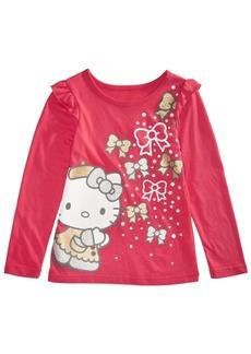 Hello Kitty Little Girls Bow-Print T-Shirt