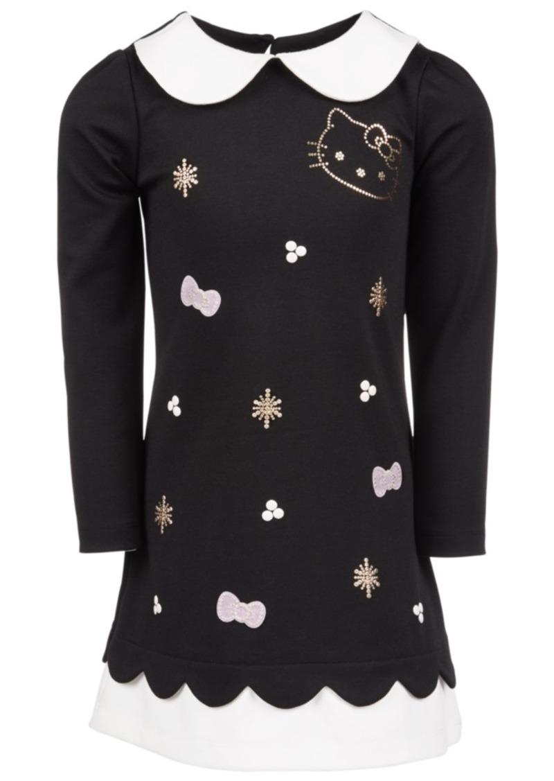 Hello Kitty Toddler Girls Contrast-Trim Dress