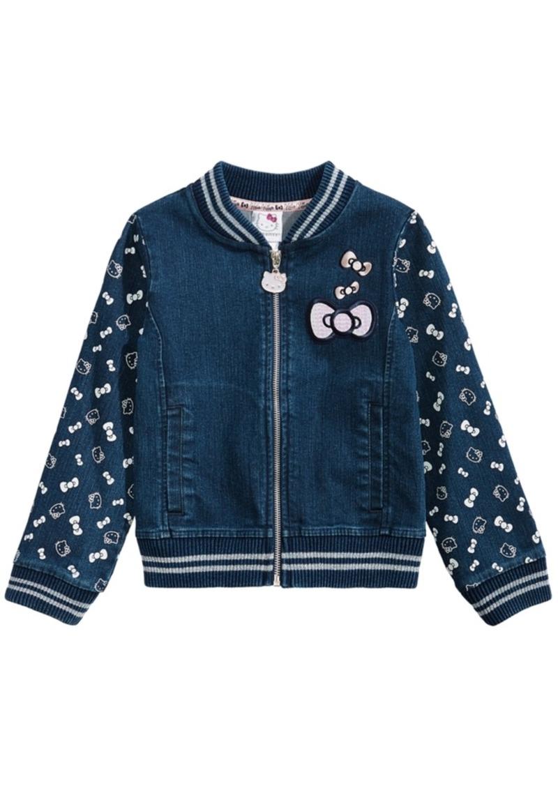 76aa07665 Hello Kitty Hello Kitty Toddler Girls Denim Knit Jacket