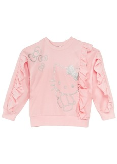 Hello Kitty Little Girls Graphic-Print Ruffle Sweatshirt