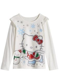 Hello Kitty Little Girls Graphic-Print Ruffled T-Shirt