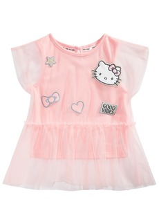 Hello Kitty Little Girls Layered-Look Patch Top
