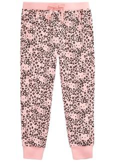 f6025a8e2e6f9 Hello Kitty Little Girls Leopard-Print Jogger Pants