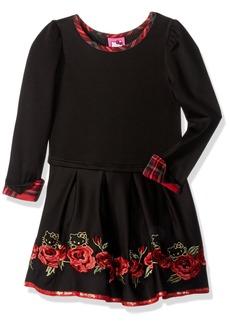 Hello Kitty Girls' Little  Long Sleeve Dress
